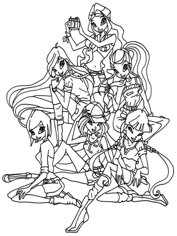 Winx club coloring pages Download