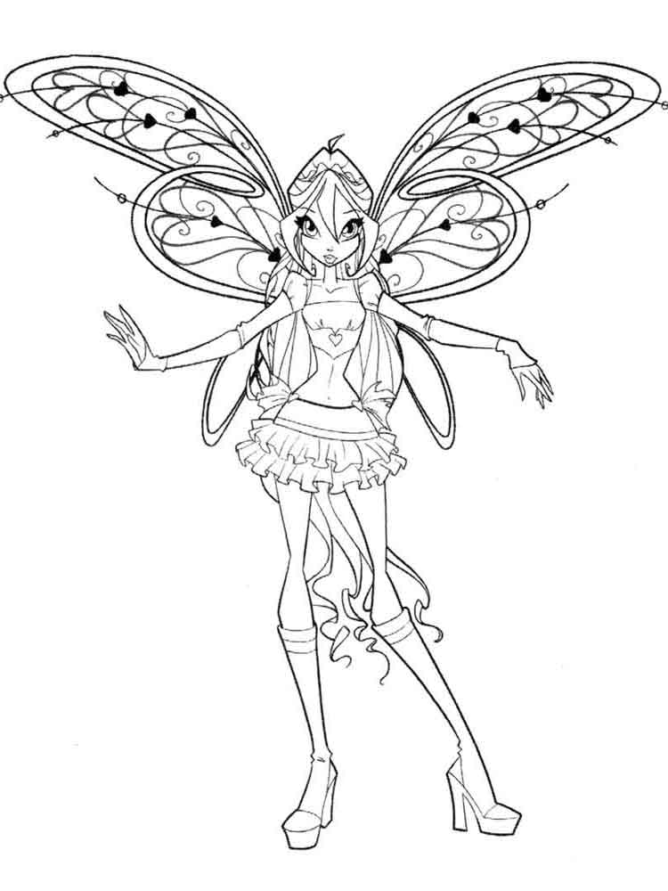 winx club coloring pages  download and print winx club coloring pages