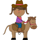 Cowgirl and Horses coloring pages