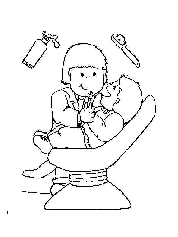 - Dentist Coloring Pages. Free Printable Dentist Coloring Pages.