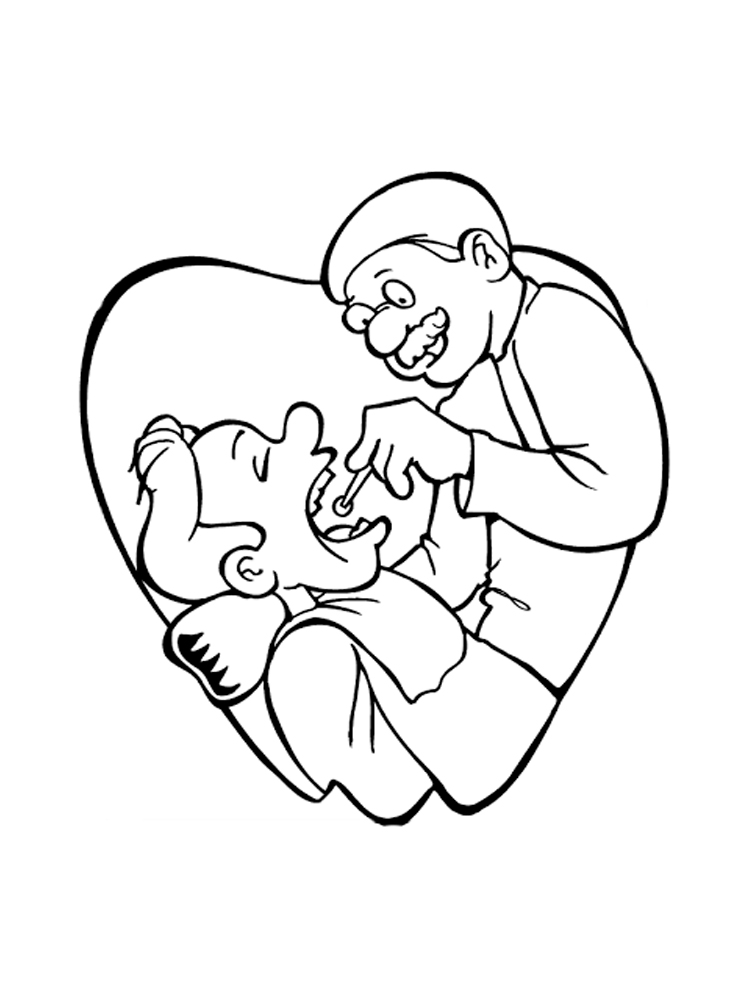Dentist Coloring Pages. Free Printable Dentist Coloring Pages.