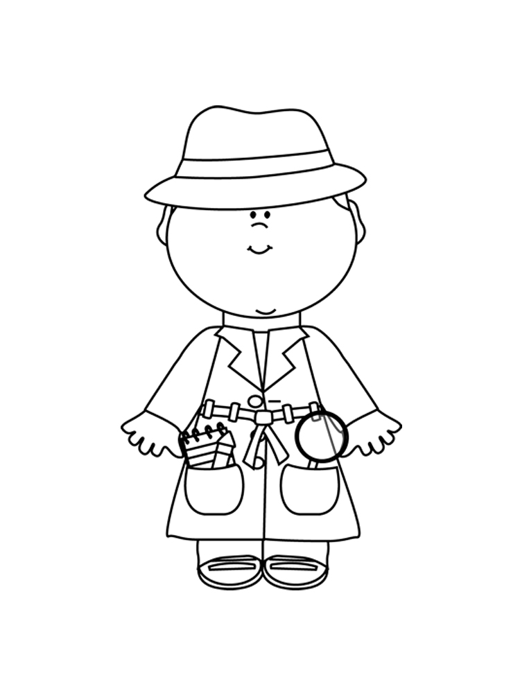 detective coloring pages free printable detective