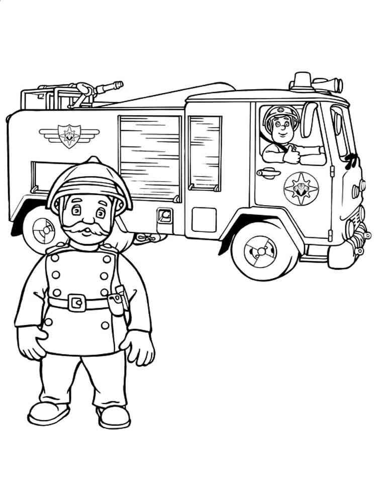 Fireman Sam coloring pages. Free Printable Fireman Sam ...