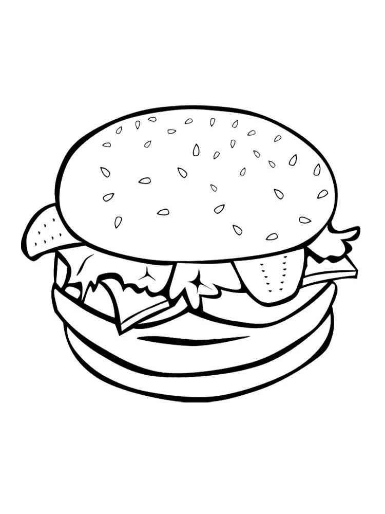 Hamburger coloring pages. Free Printable Hamburger ...