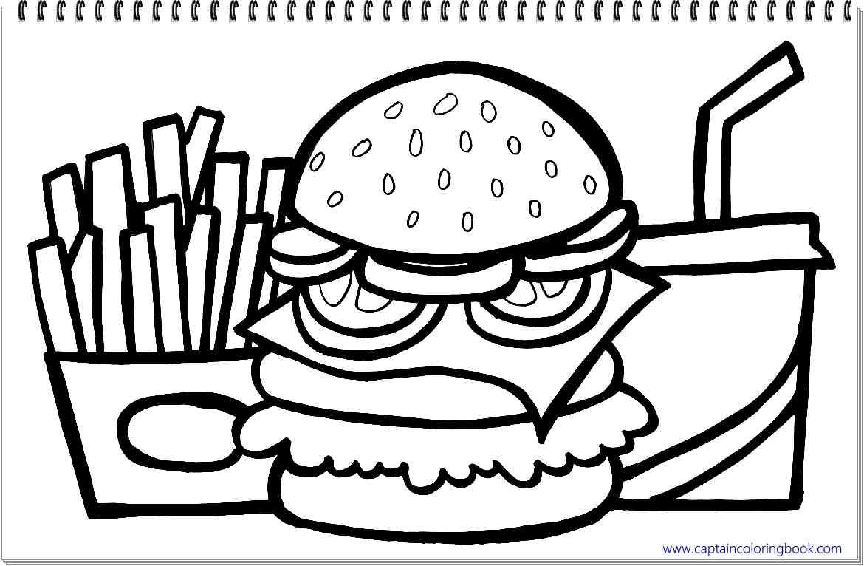 Картинки бургеры для распечатки кнопкой