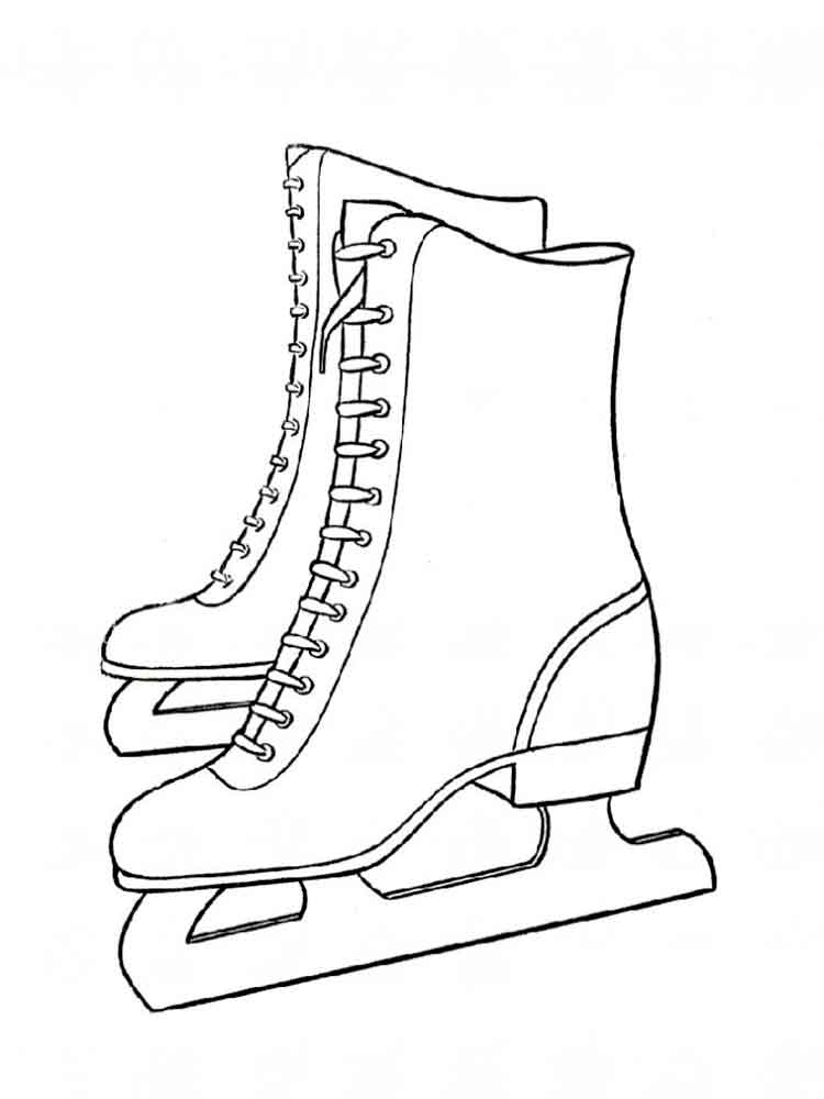 Ice Skates coloring pages. Free Printable Ice Skates ...
