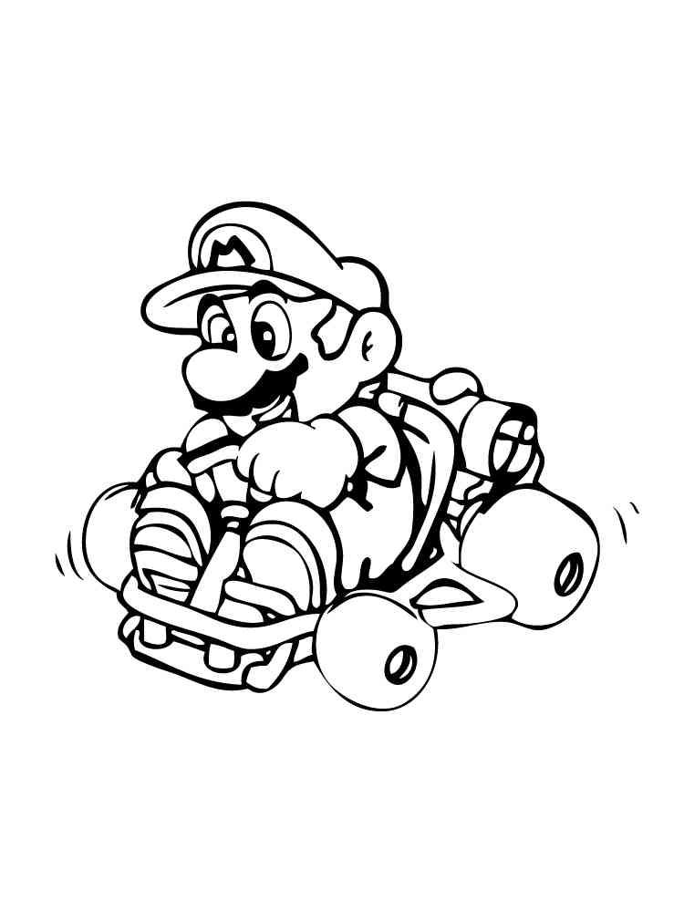 Mario Kart coloring pages. Free Printable Mario Kart ...