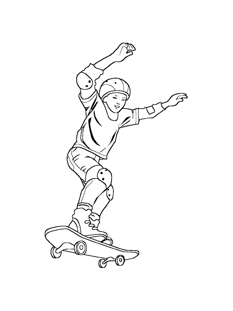 Skateboard coloring pages. Free Printable Skateboard ...