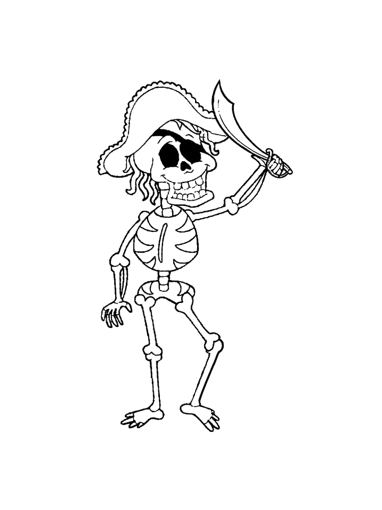 Skeleton Coloring Pages. Free Printable Skeleton Coloring Pages.