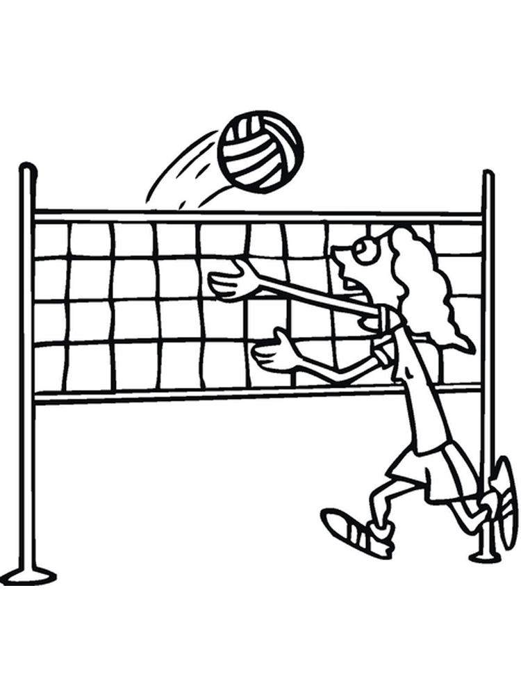 Volleyball coloring pages. Free Printable Volleyball ...