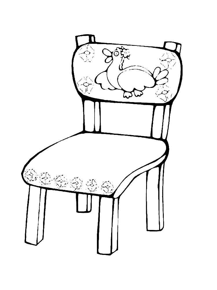 Chair Coloring Pages Free Printable Chair Coloring Pages