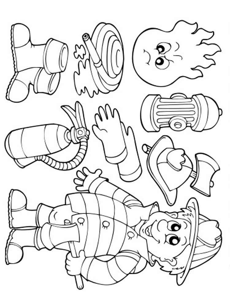 Firefighter coloring pages. Free Printable Firefighter ...