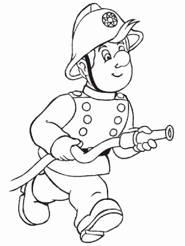 Firefighter Coloring Pages. Free Printable Firefighter Coloring Pages.