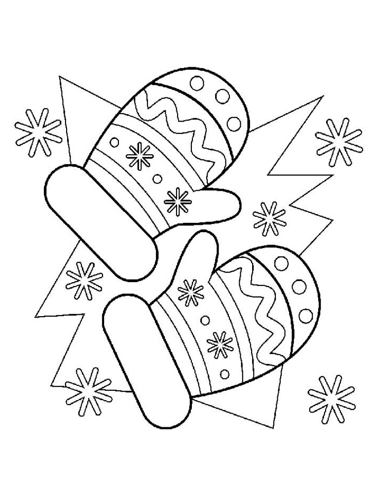 Mittens coloring pages. Free Printable Mittens coloring pages.