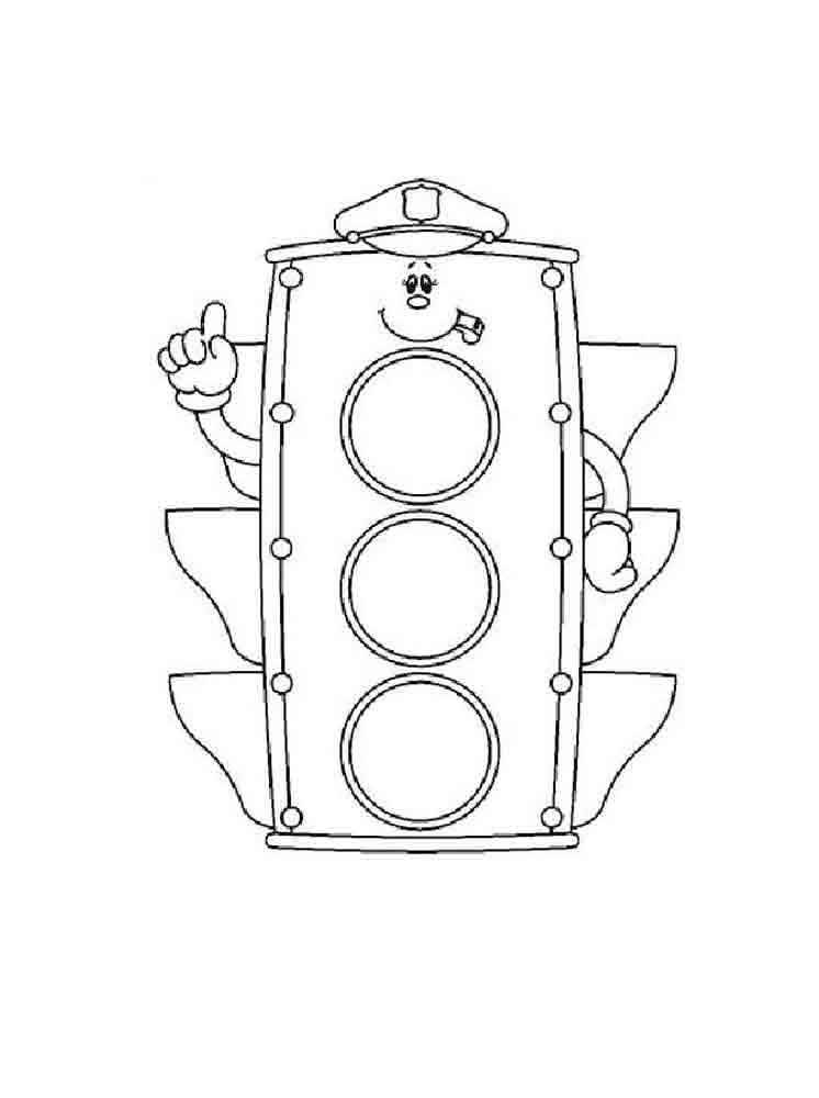 Traffic light coloring pages. Free Printable Traffic light ...