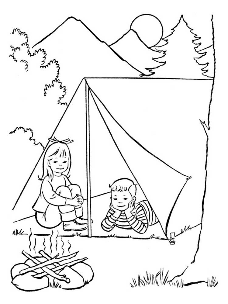 рисунок отдыха на природе карандашом коми богата своими