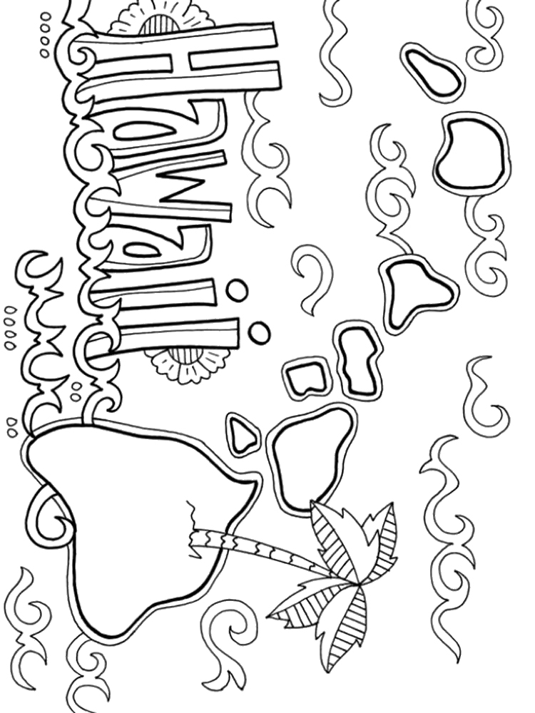 Hawaii Coloring Pages Download And Print Hawaii Coloring Pages