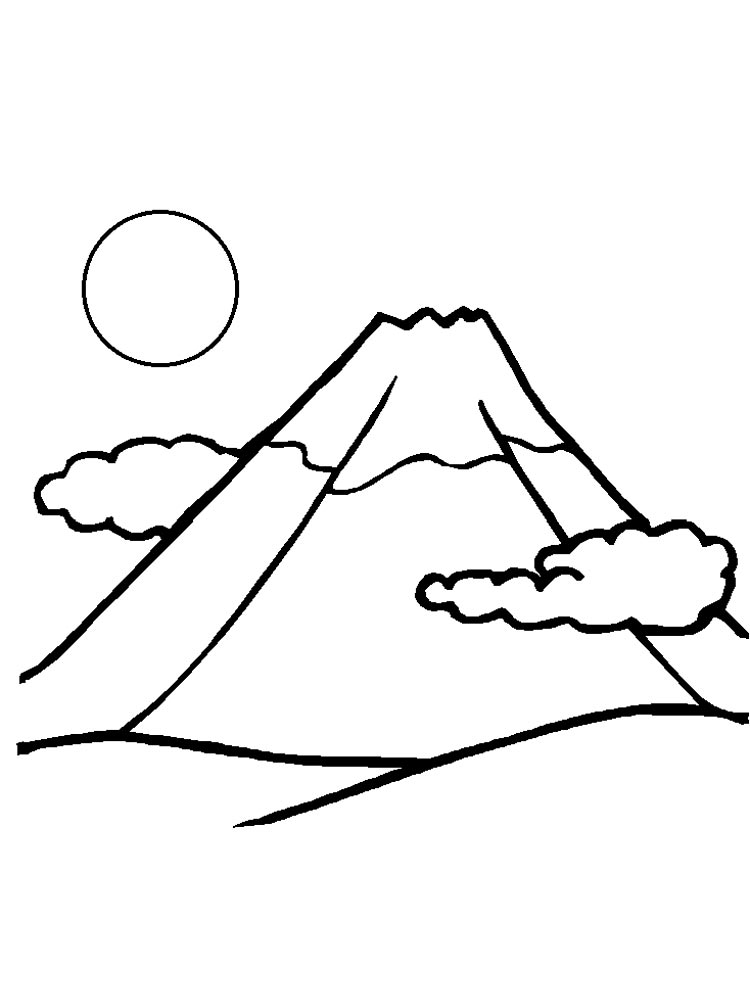 Volcano Coloring Pages Download And Print Volcano Coloring Pages