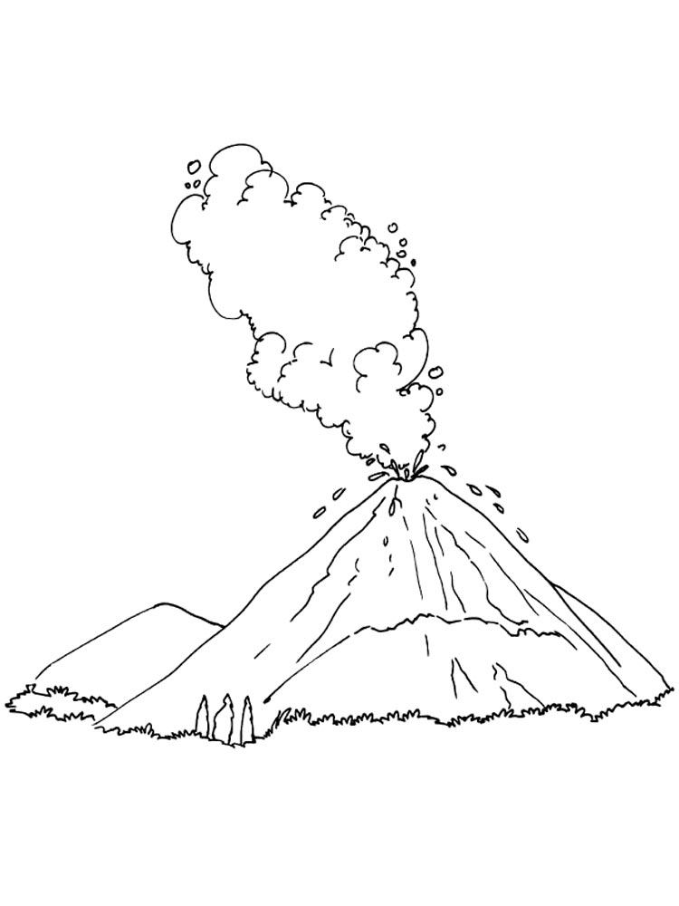 Volcano coloring pages. Download and print Volcano ...
