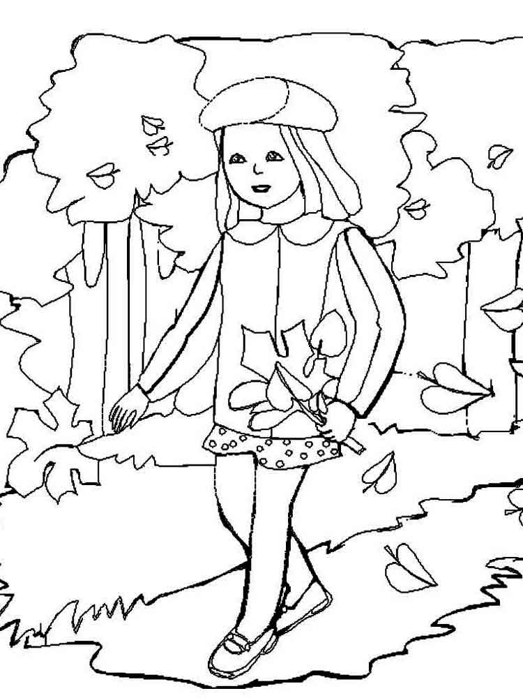 Autumn coloring pages. Download and print autumn coloring pages