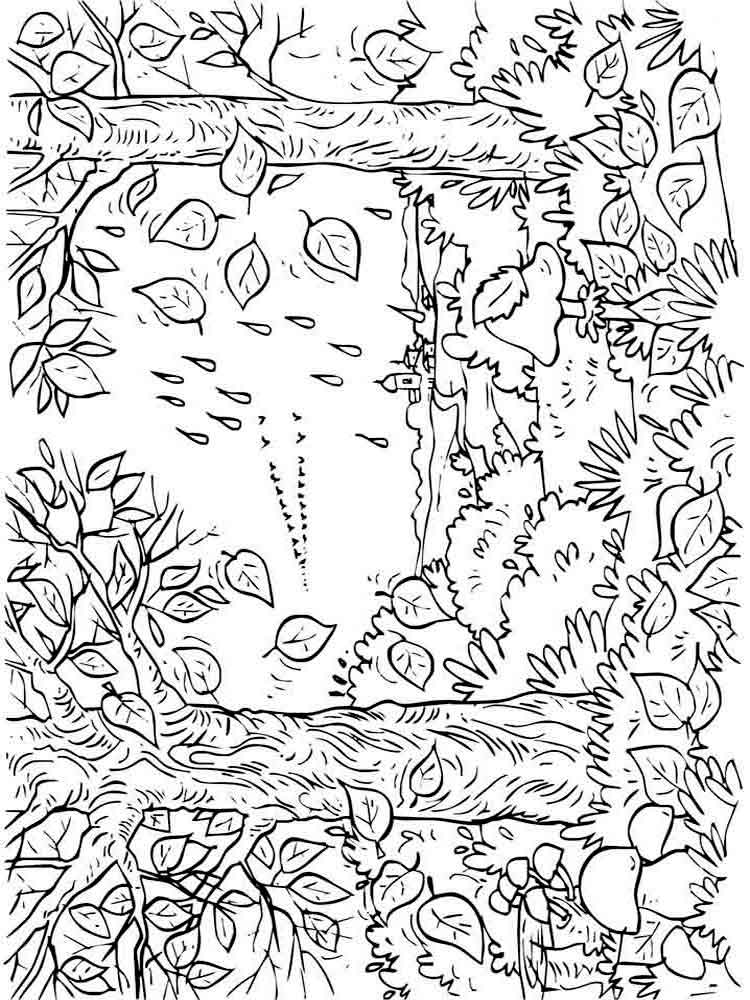 Autumn coloring pages Download and print autumn coloring