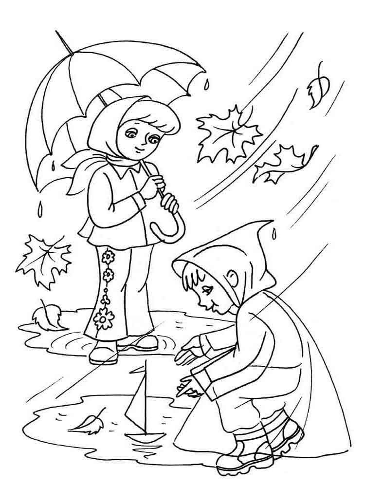 Autumn coloring pages Download