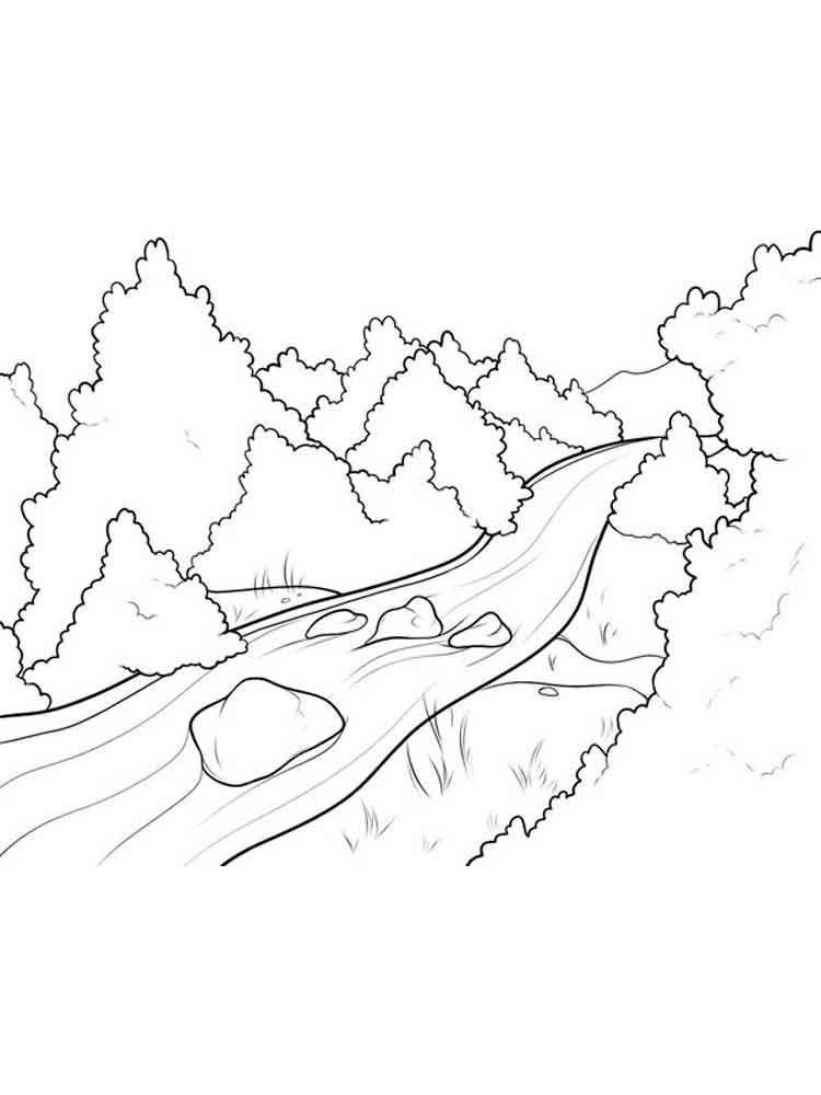 Forest Coloring Pages Download And Print Forest Coloring Pages