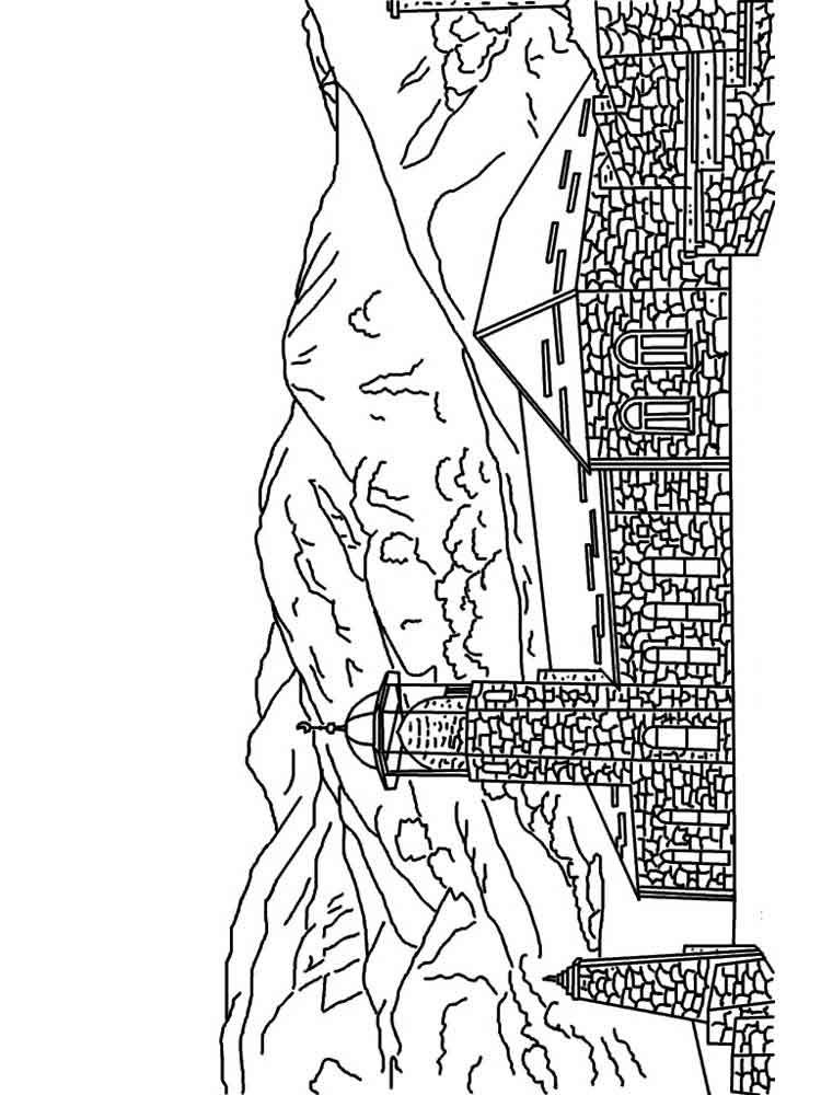 Mountains coloring pages. Download and print mountains coloring pages