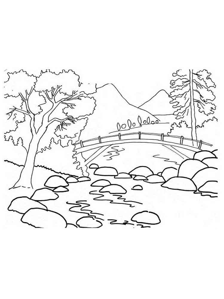 Mountains coloring pages download and print mountains for Coloring pages mountains