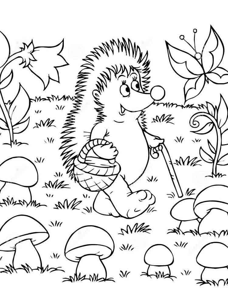 Mushrooms coloring pages Download