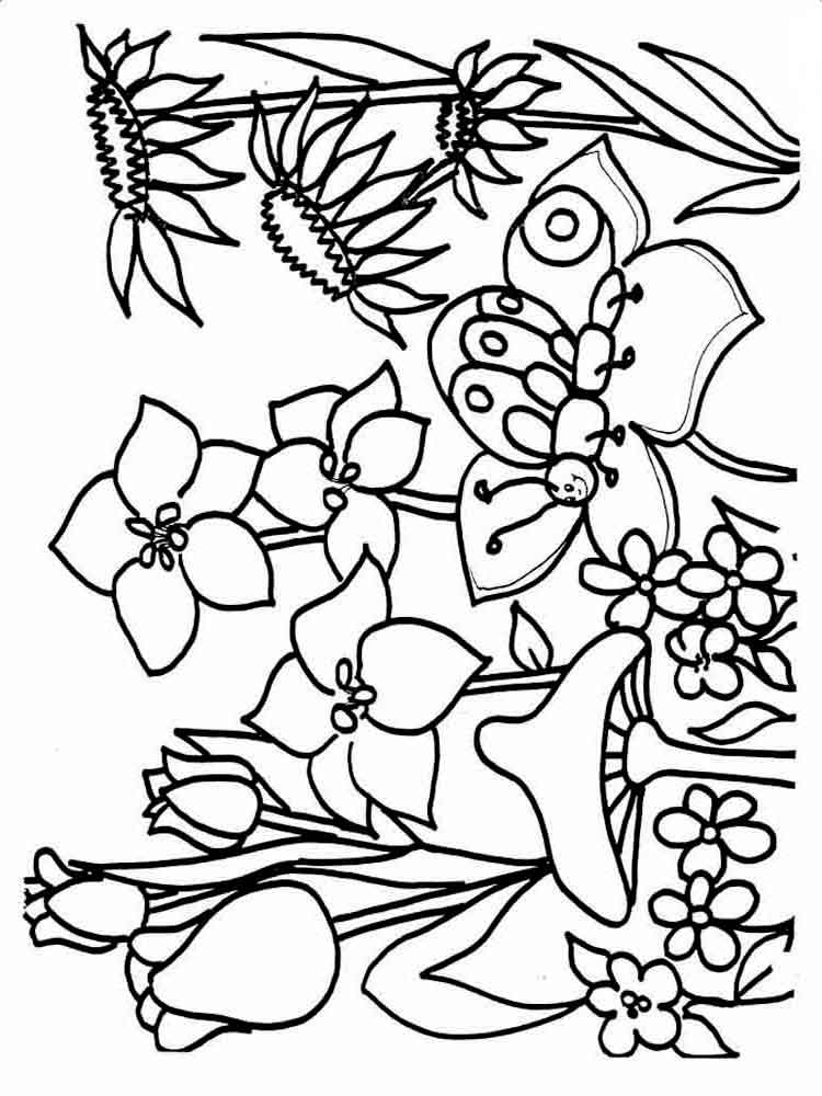 Spring coloring pages Download