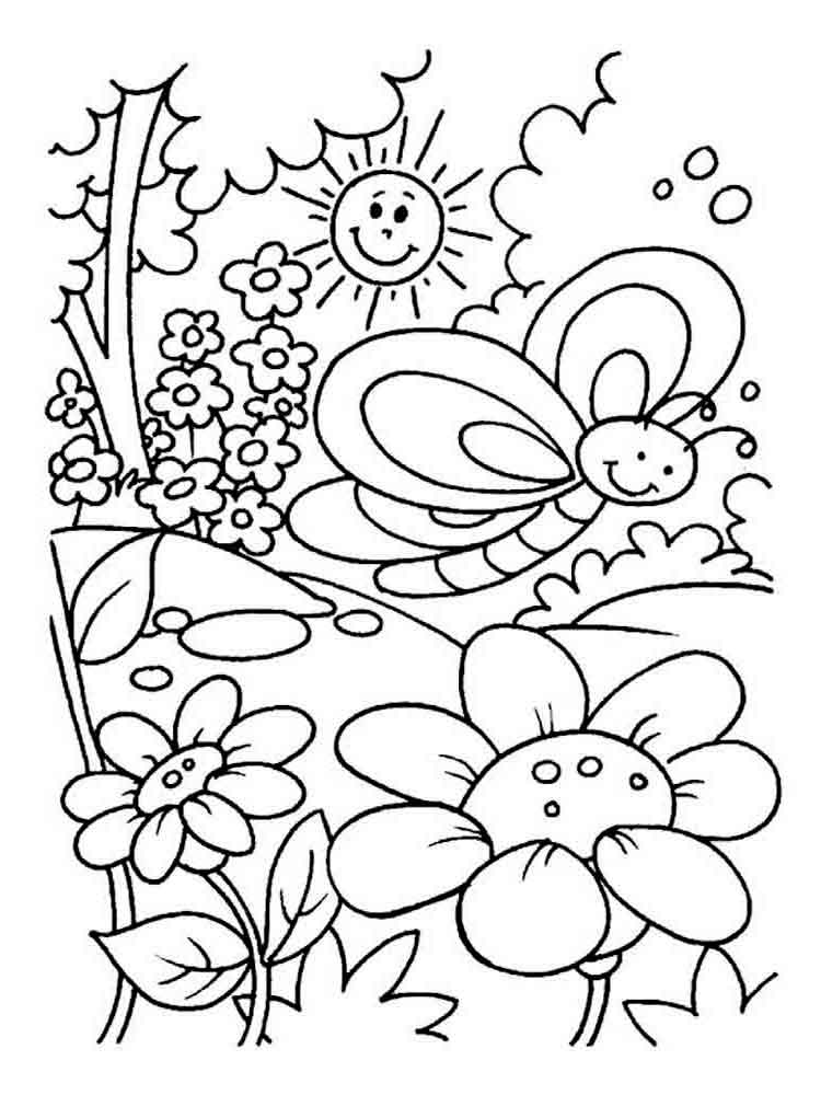 nature coloring pages for kids - summer coloring pages download and print summer coloring