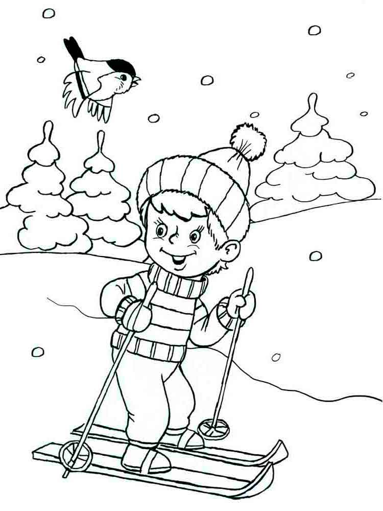 Winter coloring pages Download