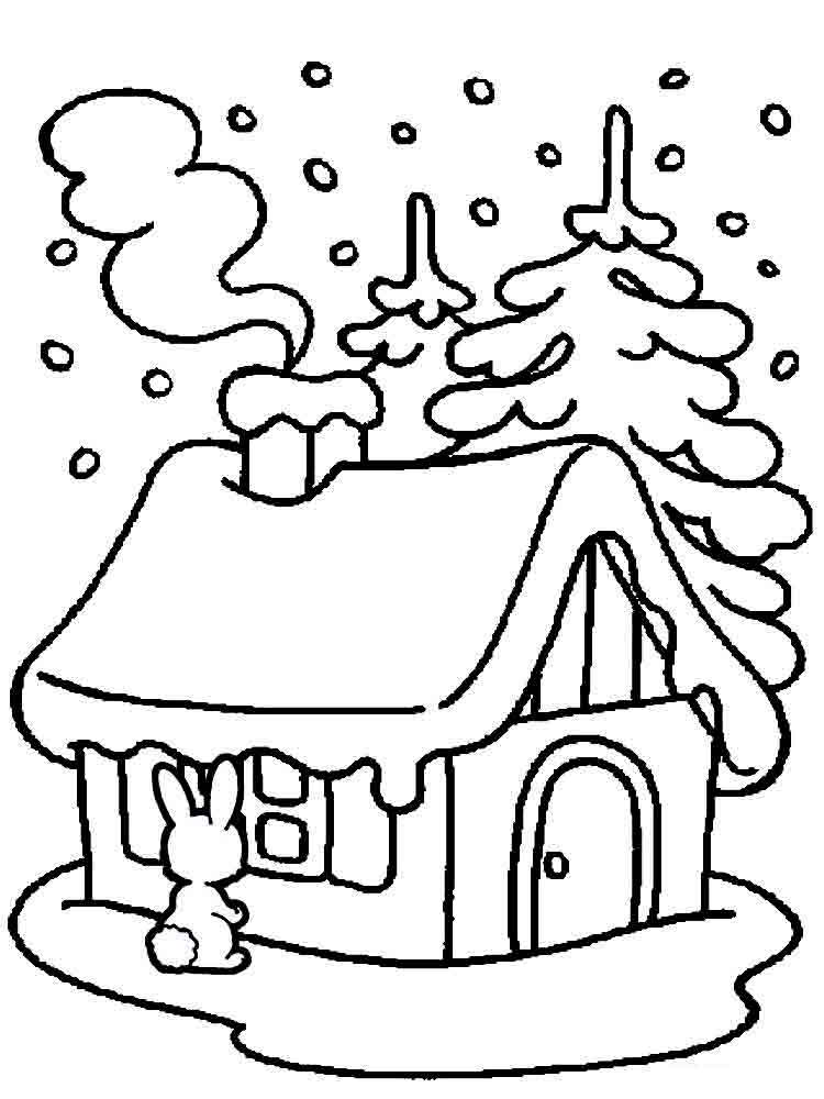 winter nature coloring pages | Winter coloring pages. Download and print winter coloring ...