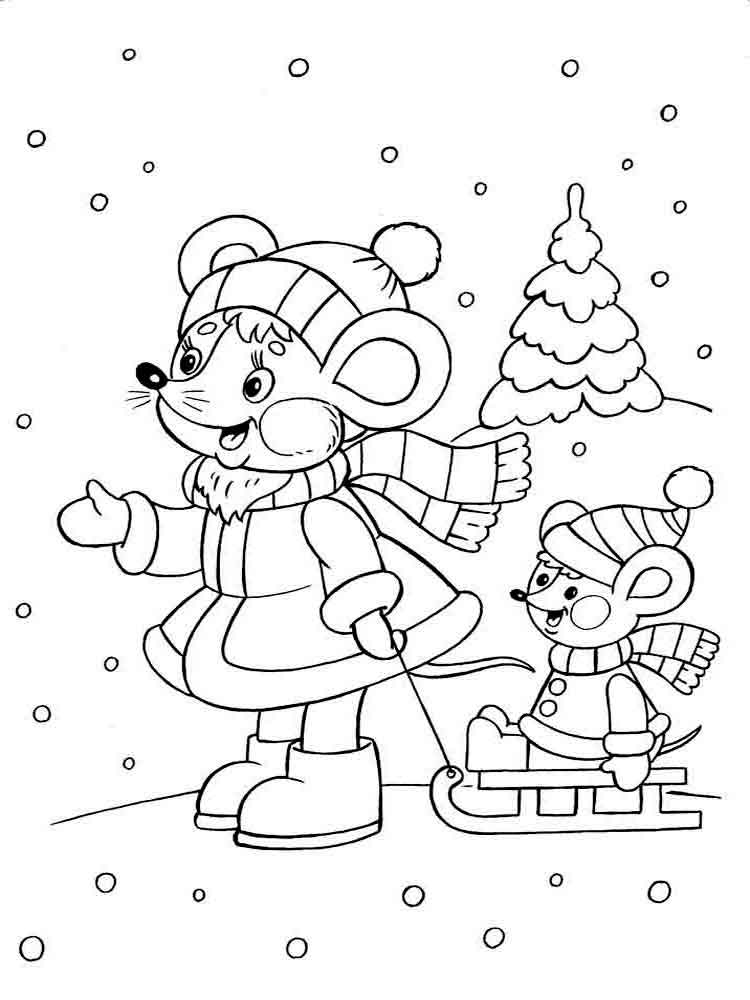 Winter coloring pages Download and print winter coloring