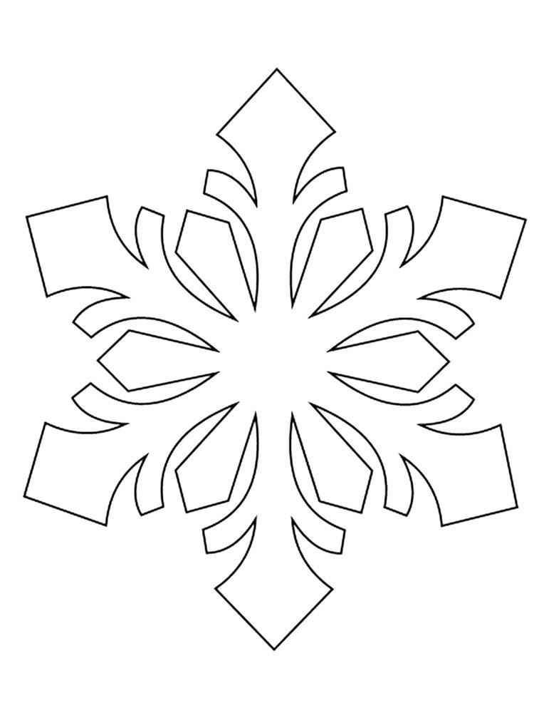 Free Snowflake Stencils. Printable to Download Snowflake ...
