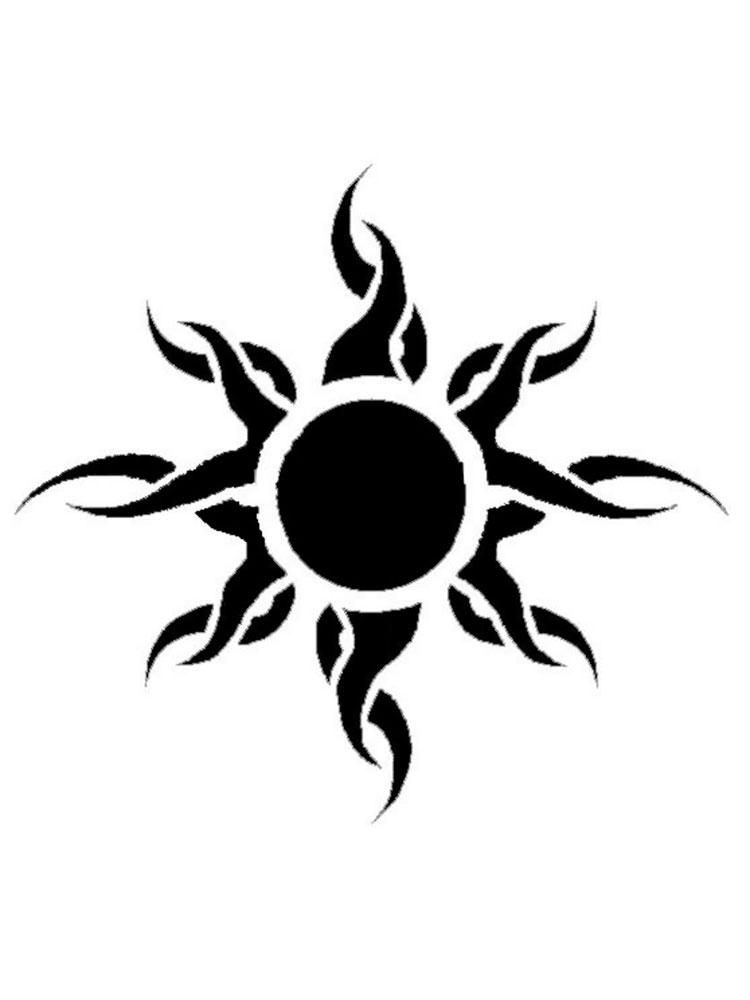 Free Sun Stencils. Printable to Download Sun Stencils.