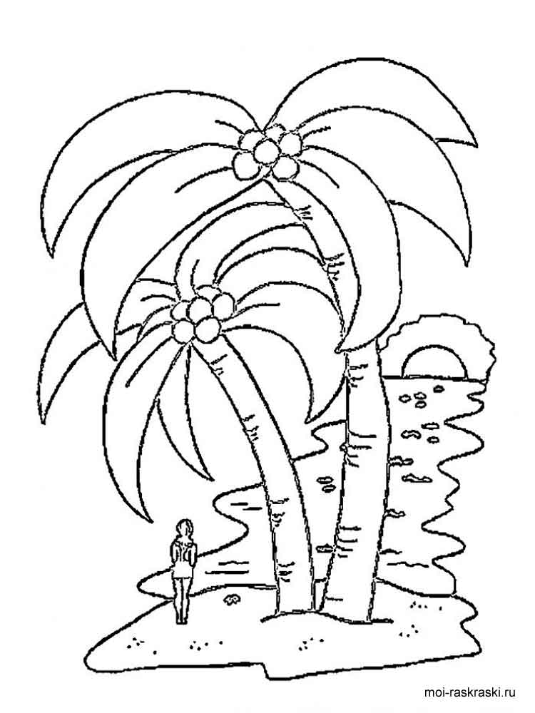 Palm Tree Coloring Pages For Kids Free Printable Palm Tree Coloring