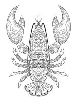 zentangle-crayfish-coloring-pages-4