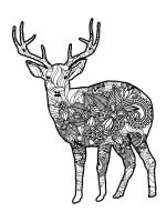 zentangle-deer-coloring-pages-10