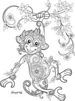 zentangle-monkey-coloring-pages-1