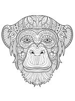 zentangle-monkey-coloring-pages-7