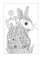 zentangle-rabbit-coloring-pages-7