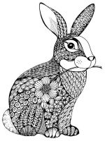 zentangle-rabbit-coloring-pages-9