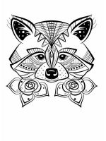 zentangle-raccoon-coloring-pages-2