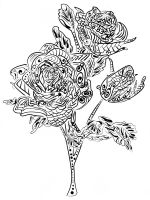 zentangle-rose-coloring-pages-3