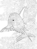 free shark coloring pages for adults printable to