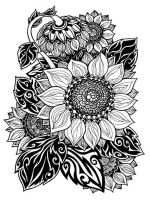 zentangle-sunflower-coloring-pages-3