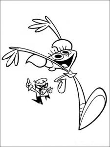 Dexters-Laboratory-coloring-pages-4