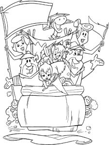 Flintstones-coloring-pages-1